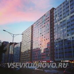 Розовый закат в Кудрово