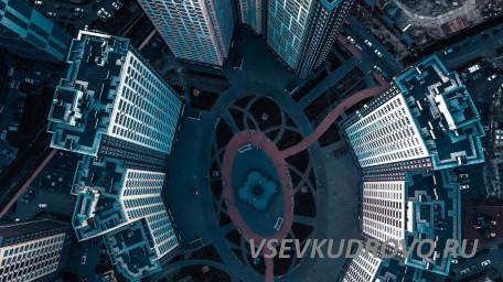 Вид сверху на Кудрово