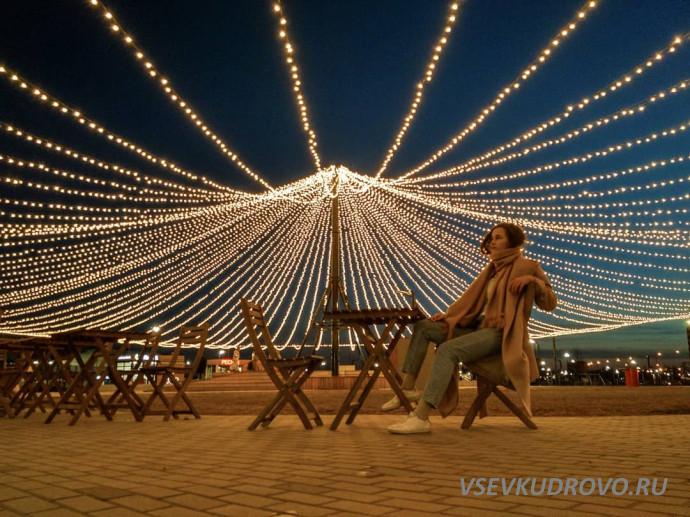вечерний Мега Парк Дыбенко