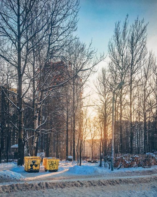 Оккервиль зимой