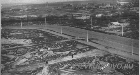 Вид на деревню Кудрово 1974-1976 года