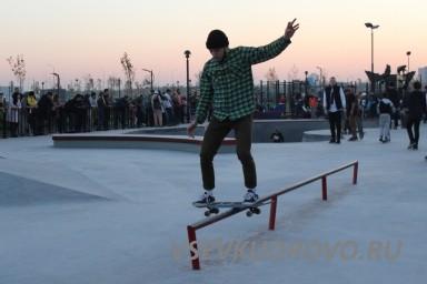 Площадка для скейтеров в Мега Парке
