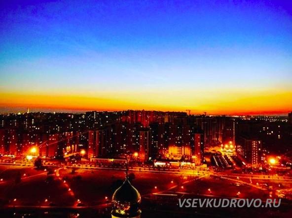 Вечернее небо над Кудрово