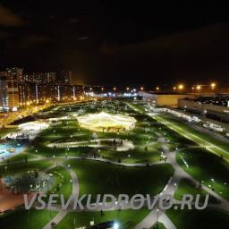 Мега Парк ночью