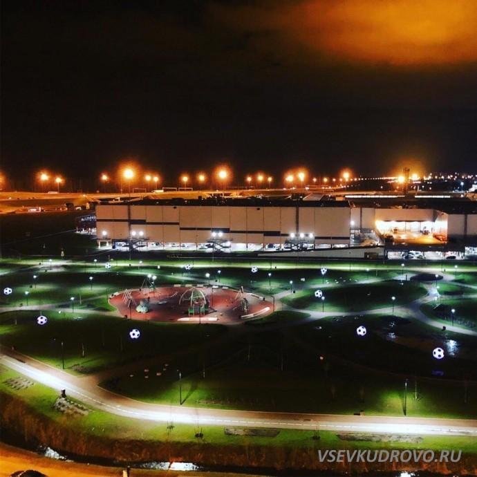 Ночное Кудрово Мега Парк